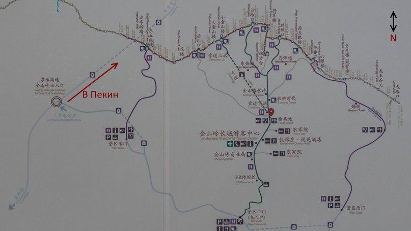 Jinshanling map
