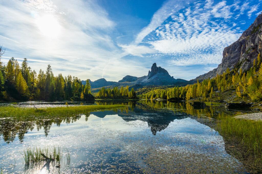 Осень на озере Federa